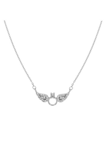 10015406 Naszyjnik srebrny pr.925 z cyrkoniami