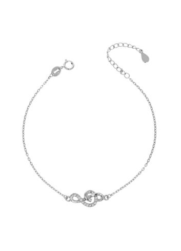 10015518 Bransoletka srebrna pr.925 z cyrkoniami