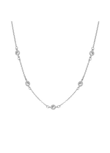 10015431 Naszyjnik srebrny pr.925 z cyrkoniami