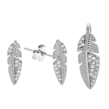 10015692 Komplet srebrny pr.925 z cyrkoniami