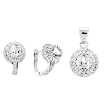 10015609 Komplet srebrny pr.925 z cyrkoniami