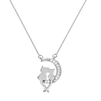 10015705 Naszyjnik srebrny pr.925 z cyrkoniami