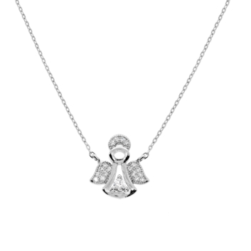 10015697 Naszyjnik srebrny pr.925 z cyrkoniami