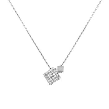 10012415 Naszyjnik srebrny pr.925 z cyrkoniami