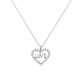 10015720 Naszyjnik srebrny pr.925 z cyrkoniami