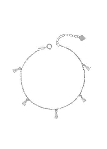 10003963 Bransoletka srebrna pr.925 z cyrkoniami