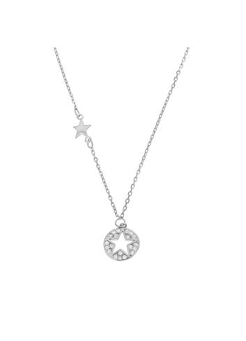 10005556 Naszyjnik srebrny pr.925 z cyrkoniami