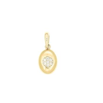 10010967 Wisiorek ze złota pr. 585 z cyrkoniami waga: 0,55 g wymiary: 6 x 15 mm. Do kompletu kolczyki nr 10010968