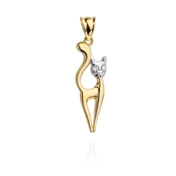 10015170 Wisiorek ze złota pr. 585 waga: 0,73 g wymiary: 1 x 3 cm