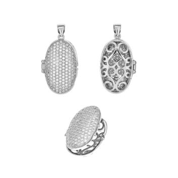 10015622 Wisiorek srebrny pr.925 z cyrkoniami