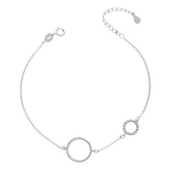 10015503 Bransoletka srebrna pr.925 z cyrkoniami