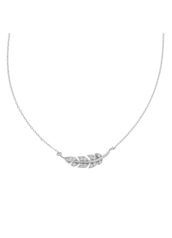 10005863 Naszyjnik srebrny pr.925 z cyrkoniami