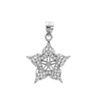 10007134 Wisiorek srebrny pr.925 z cyrkoniami