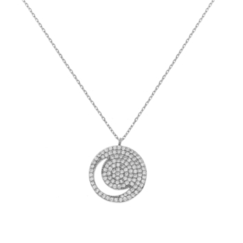 10016044  Naszyjnik srebrny pr.925 z cyrkoniami