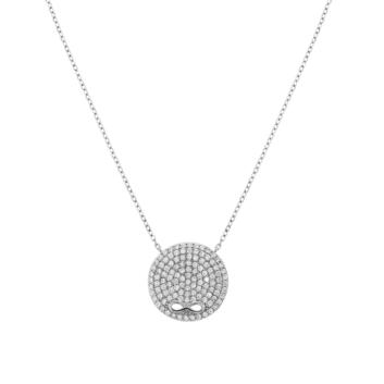 10016042 Naszyjnik srebrny pr.925 z cyrkoniami