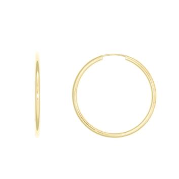 10010929 Kolczyki ze złota pr. 585 waga: 1,60 g średnica: 45 mm