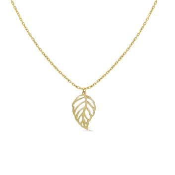 10013784 Naszyjnik ze złota pr. 585k waga: 1,65 g długość: 41 + 5 cm, wymiary zawieszki: 7 x 15 mm