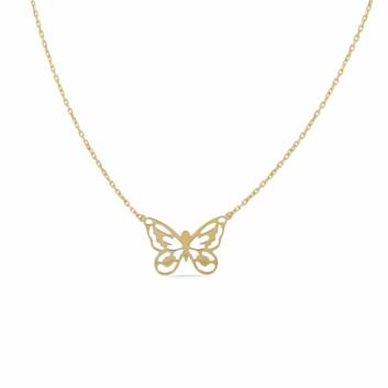 10013787 Naszyjnik ze złota pr. 585 waga: 1,62 g długość: 42 + 5 cm, wymiary zawieszki: 15 x 10 mm