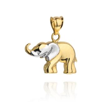 10015165 Wisiorek ze złota pr. 585 waga: 0,80 g wymiary: 2 x 1,5 cm