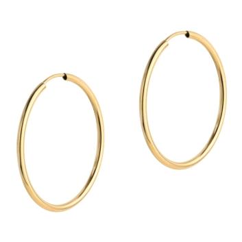 10015527 Kolczyki ze złota pr.585 waga: 1,37 g wymiary: 1,5 mm x 43 mm