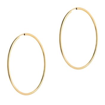 10015528 Kolczyki ze złota pr.585 waga: 1,54 g wymiary: 1,5 mm x 48 mm