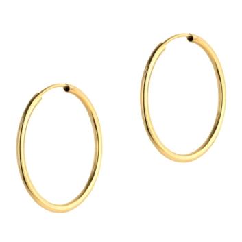 10015530 Kolczyki ze złota pr.585 waga:0,77 g wymiary: 1,5 mm x 25 mm
