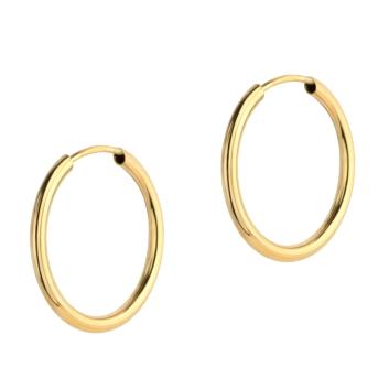 10015531 Kolczyki ze złota pr.585 waga:0,53 g wymiary: 1,5 mm x 18 mm