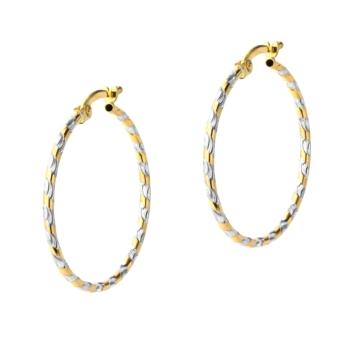 10015533 Kolczyki ze złota pr.585 waga: 1,4 g wymiary: 1,5 mm x 28 mm