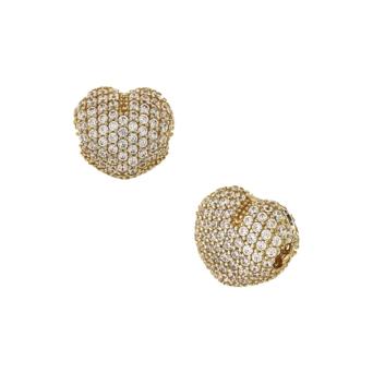 10016164 Koralik modułowy do bransoletki ze złota pr. 585 z cyrkoniami waga 1,70 g wymiary: 1,2 x 1 cm