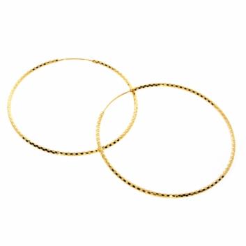 10016320 Kolczyki srebrne pozłacane pr.925