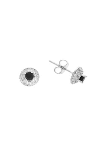 10007494 Kolczyki srebrne pr.925 z cyrkoniami