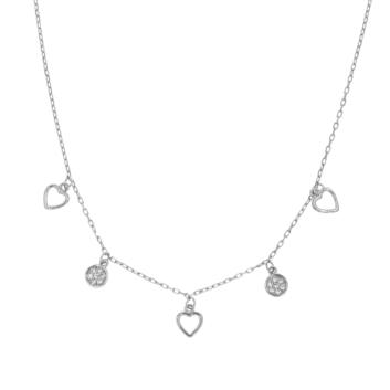10011329 Naszyjnik srebrny pr.925 z cyrkoniami