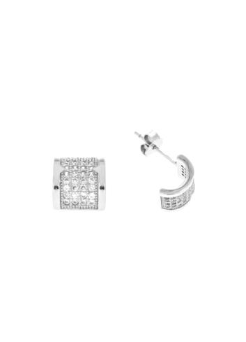 10008045 Kolczyki srebrne pr.925 z cyrkoniami