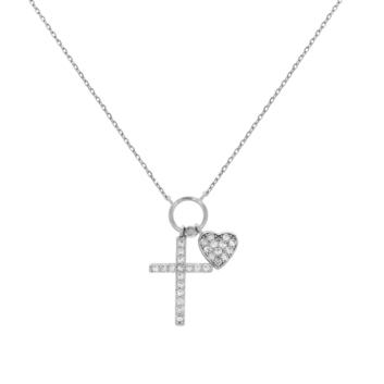 10016468 Naszyjnik srebrny pr.925 z cyrkoniami