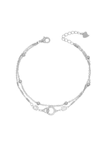 10008388 Bransoletka srebrna pr.925 z cyrkoniami