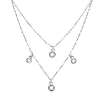 10017034 Naszyjnik srebrny pr.925 z cyrkoniami
