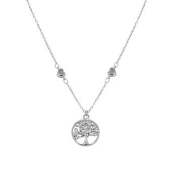 10017031 Naszyjnik srebrny pr.925 z cyrkoniami