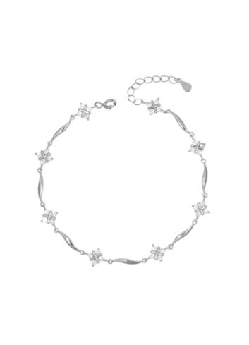 10008218 Bransoletka srebrna pr.925 z cyrkoniami