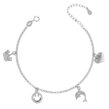 10017065 Bransoletka srebrna pr.925 z cyrkoniami
