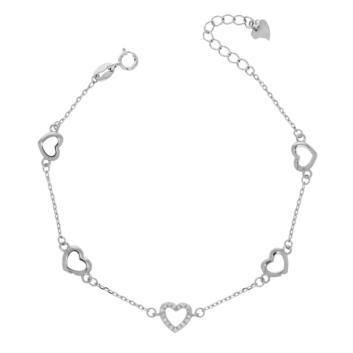 10017025 Bransoletka srebrna pr.925 z cyrkoniami