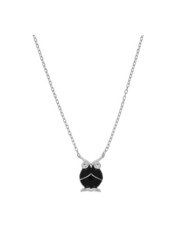 10007279 Naszyjnik srebrny pr.925 emaliowany z cyrkoniami