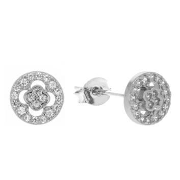 10017156 Kolczyki srebrne pr.925 z cyrkoniami