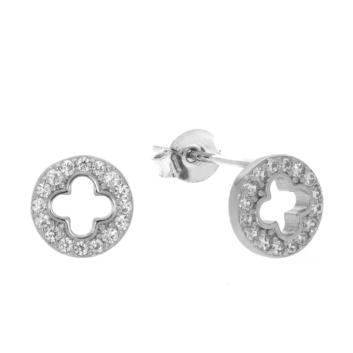 10017161 Kolczyki srebrne pr.925 z cyrkoniami