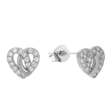 10017162 Kolczyki srebrne pr.925 z cyrkoniami