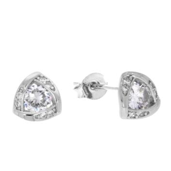 10017152 Kolczyki srebrne pr.925 z cyrkoniami