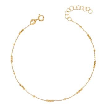 10017335 Srebrna pozłacana bransoletka pr.925