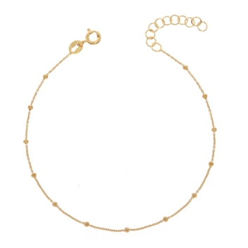 10017336 Srebrna pozłacana bransoletka pr.925