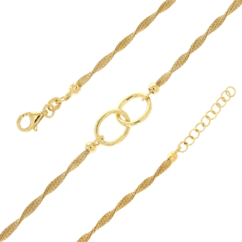 10017270 Srebrna pozłacana bransoletka pr.925
