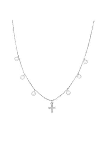 10008014 Naszyjnik srebrny pr.925 z cyrkoniami