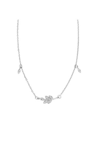 10006893 Naszyjnik srebrny pr.925 z cyrkoniami